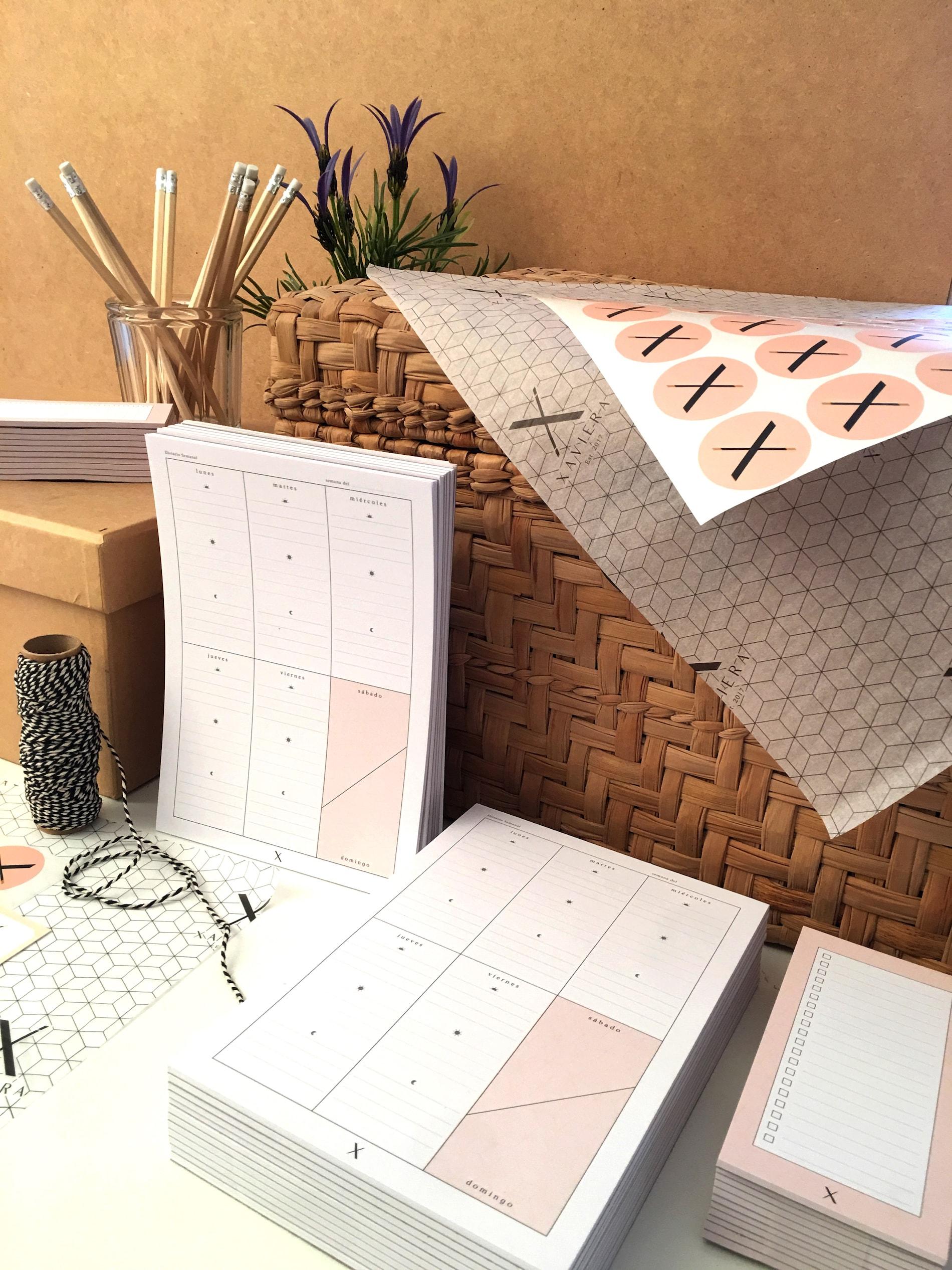 Close up of Casa Xaviera custom tissue paper and custom stickers