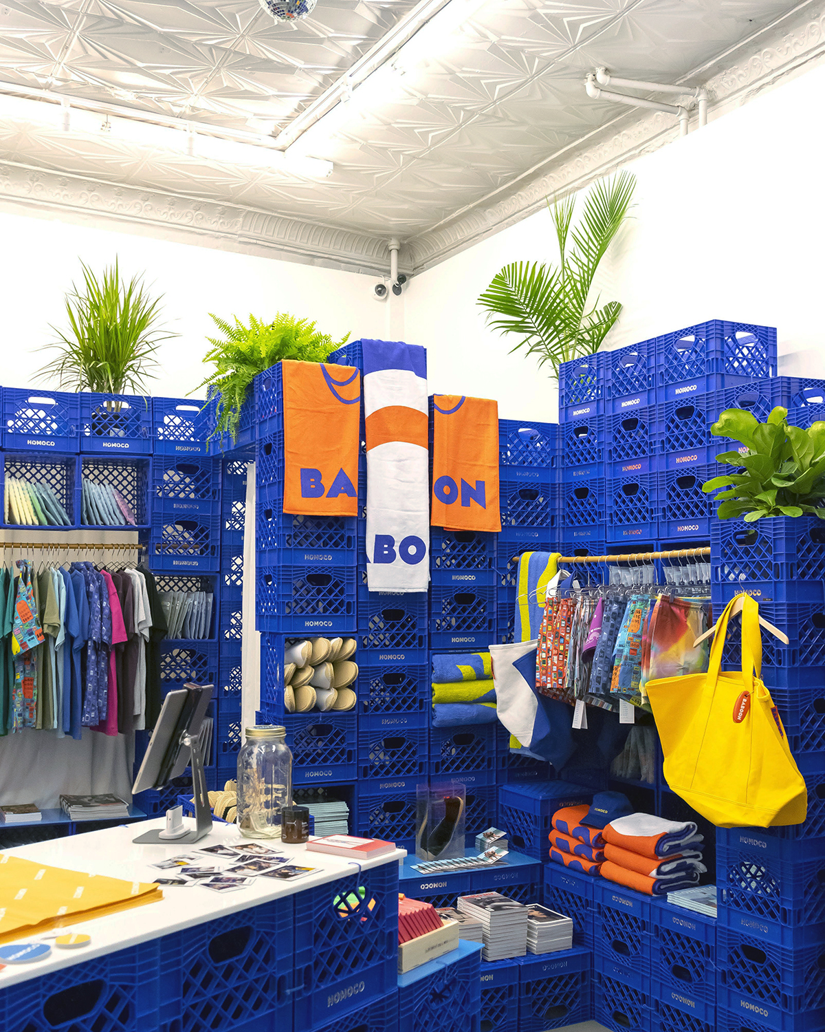 HOMOCO pop-up store interior