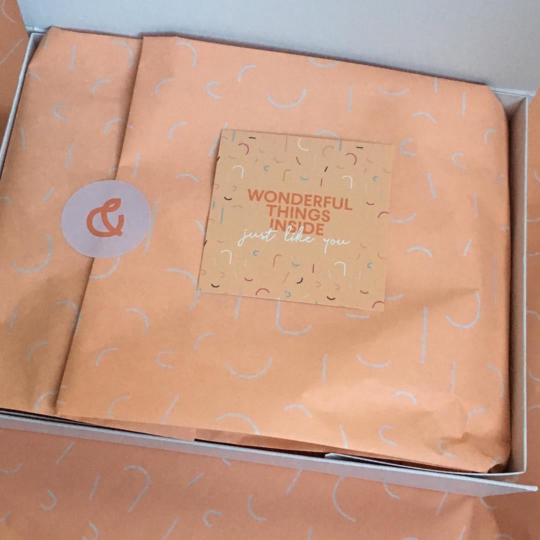 Peach + Polly custom tissue paper