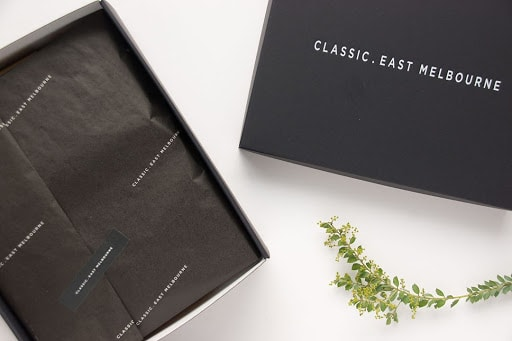 Branded eCommerce Packaging by Classic East Melbourne